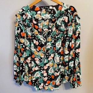 Flowy, funky, floral blouse